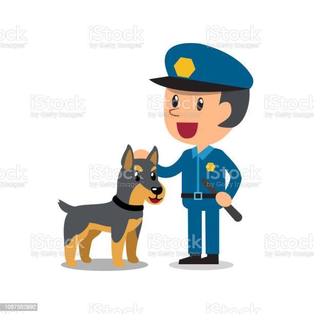 Vector cartoon security guard policeman with police guard dog vector id1057552692?b=1&k=6&m=1057552692&s=612x612&h=nbpxejoxdi4o9hpb9sjap8svxwilfbppdufty0ldhrw=