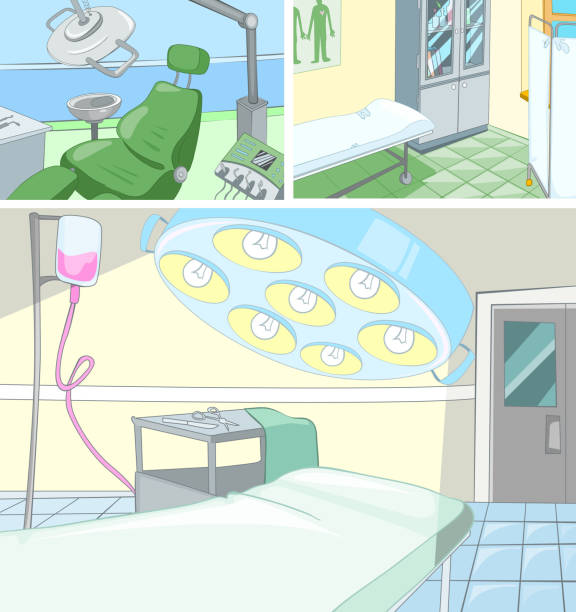 Royalty Free Empty Hospital Bed Drawing Clip Art, Vector ...