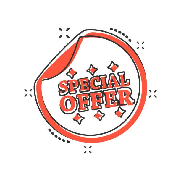 Vector Cartoon Special Offer Shopping Icon In Comic Style Sign Illustration Pictogram