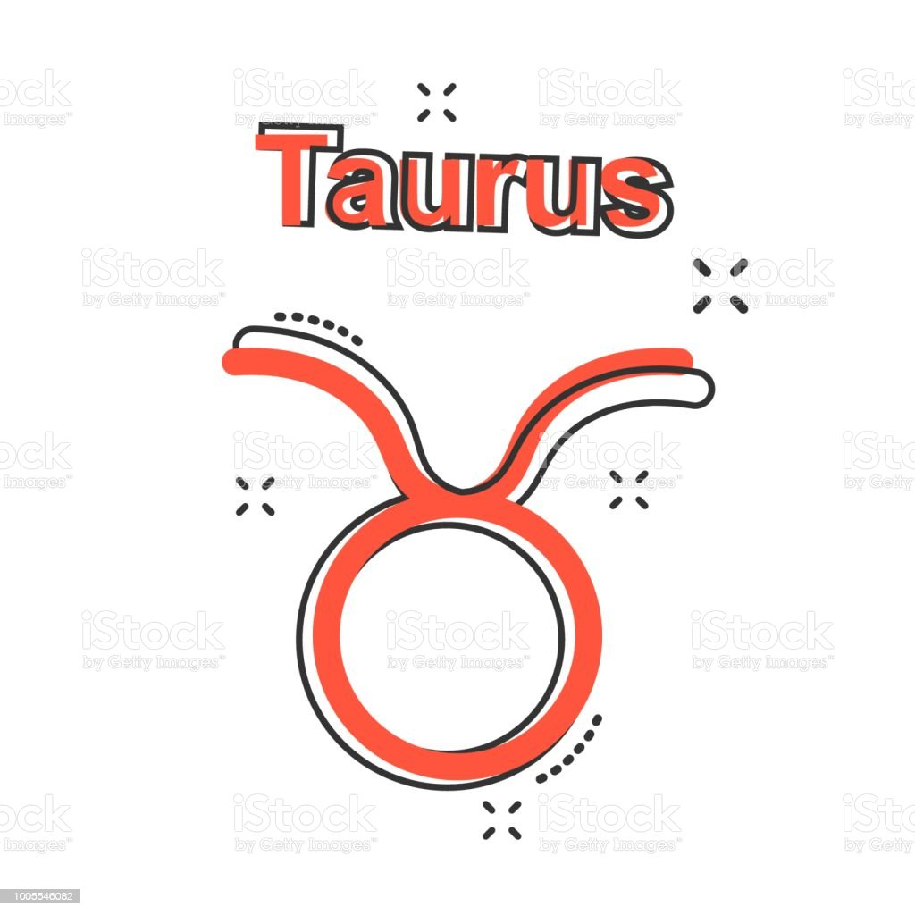 Vector Cartoon Taurus Zodiac Icon In Comic Style Astrology Sign