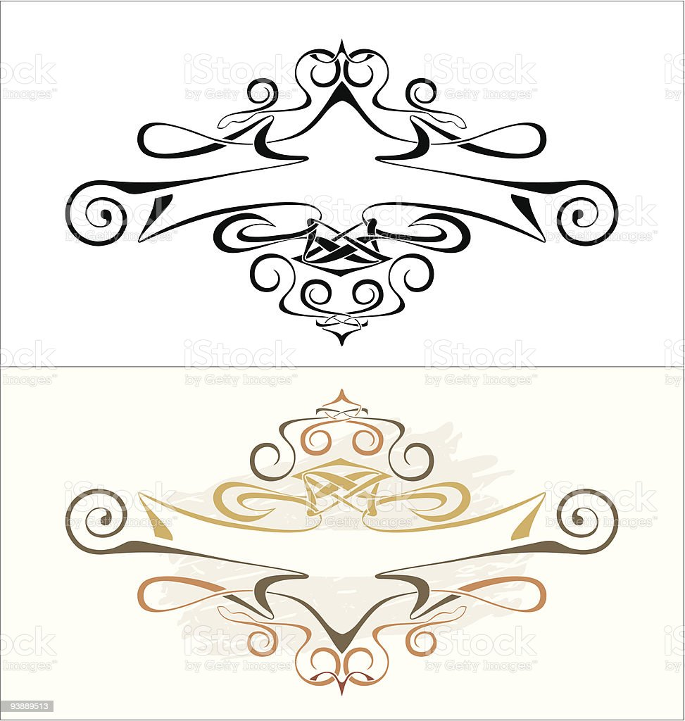 Vector Cartouche and Banner royalty-free stock vector art