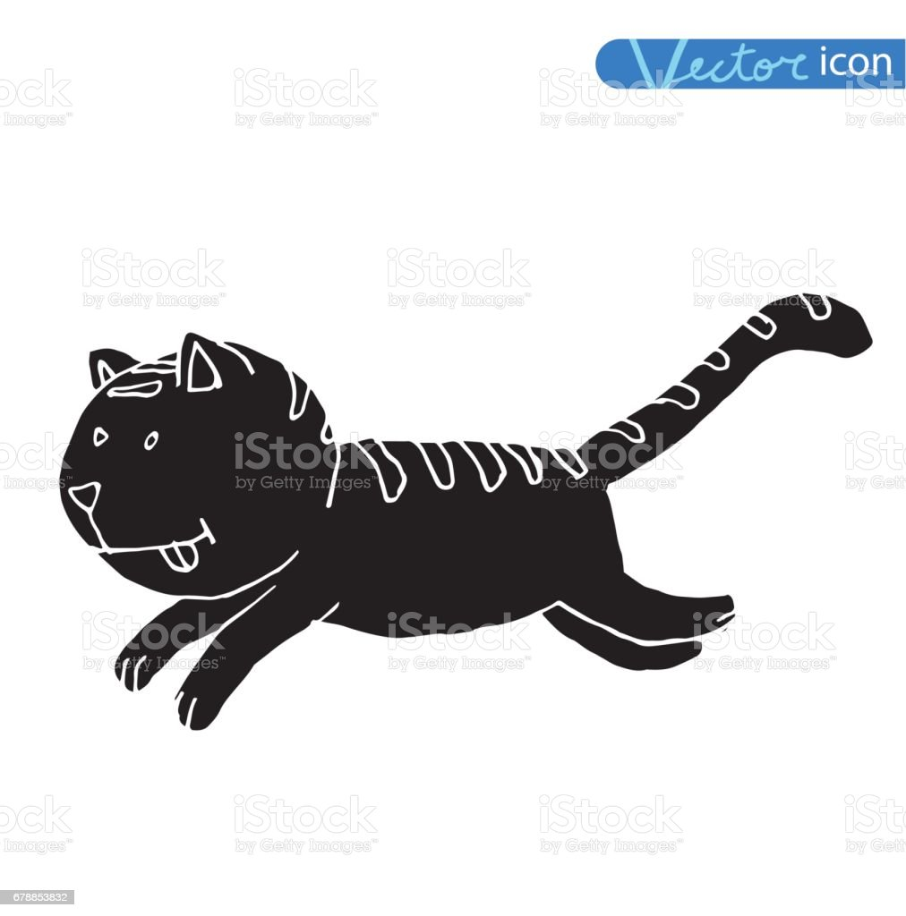 Vector - icône de chat, illustration vectorielle vector icône de chat illustration vectorielle – cliparts vectoriels et plus d'images de art libre de droits