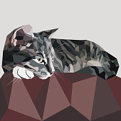 Vector Cat Low poly
