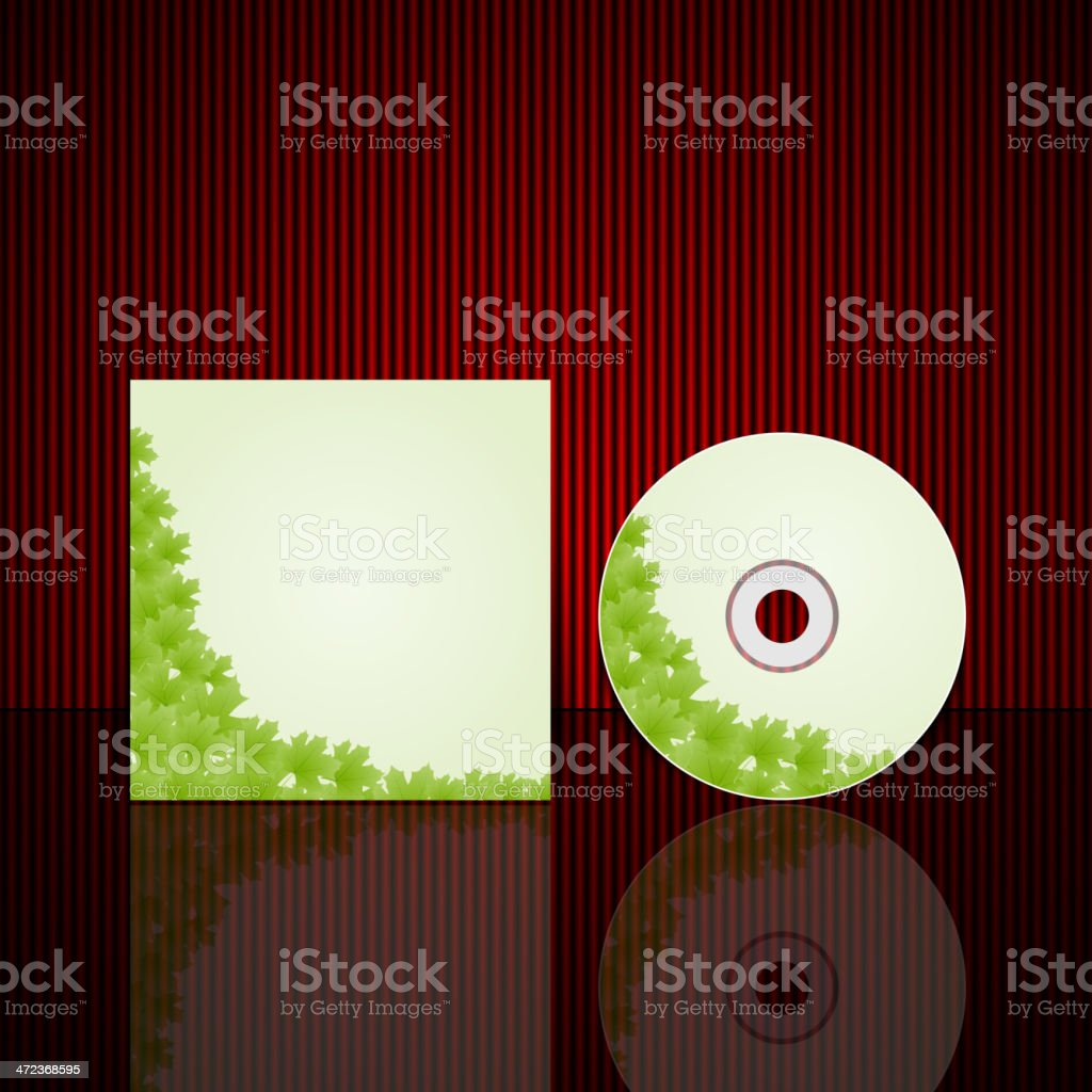 Vector Cd cover design template vector art illustration