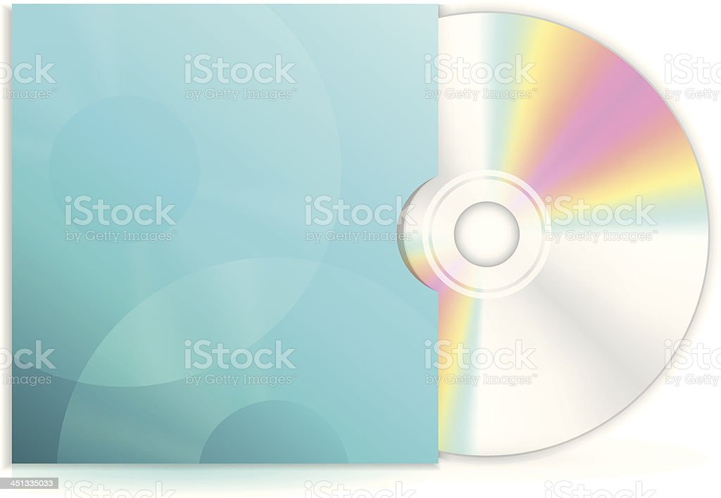 Vector cd disc with blue case royalty-free stock vector art