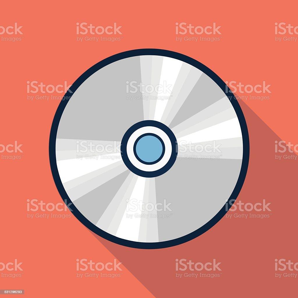 Vector cd icon vector art illustration