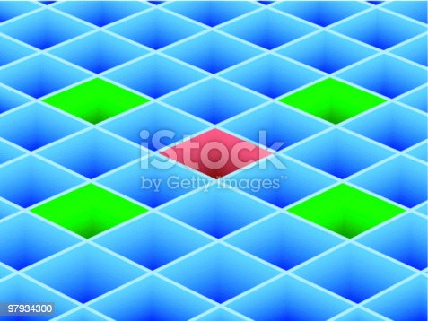Vector Cell Stock Vector Art & More Images of Abstract 97934300