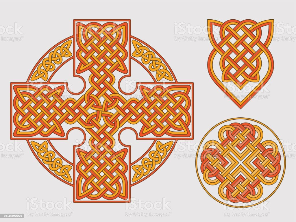 Vector celtic cross. Ethnic ornament Geometric design T-shirt pr vector art illustration