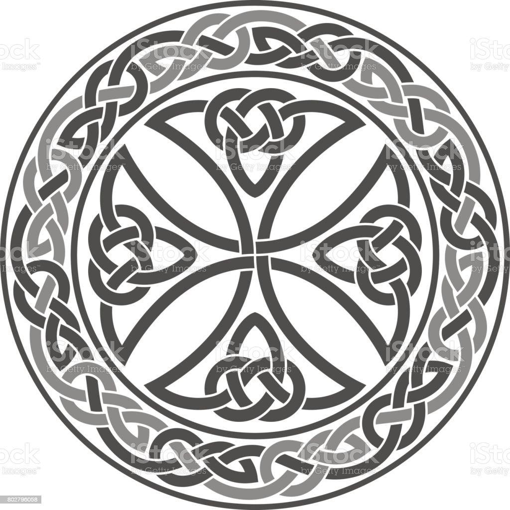 ベクトル ケルト十字。民族の飾り。幾何学的なデザイン ベクターアートイラスト