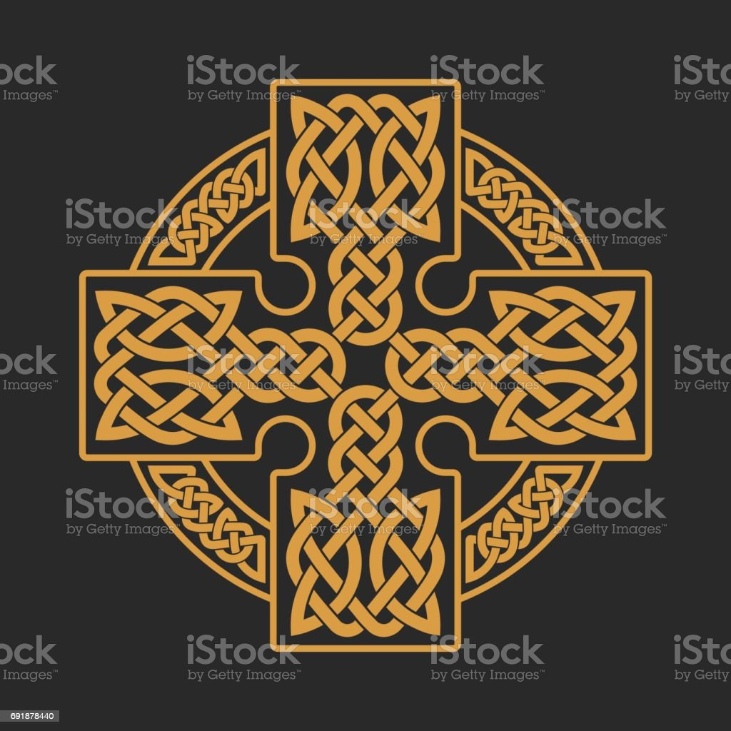 Vector celtic cross. Ethnic ornament. T-shirt print. vector art illustration
