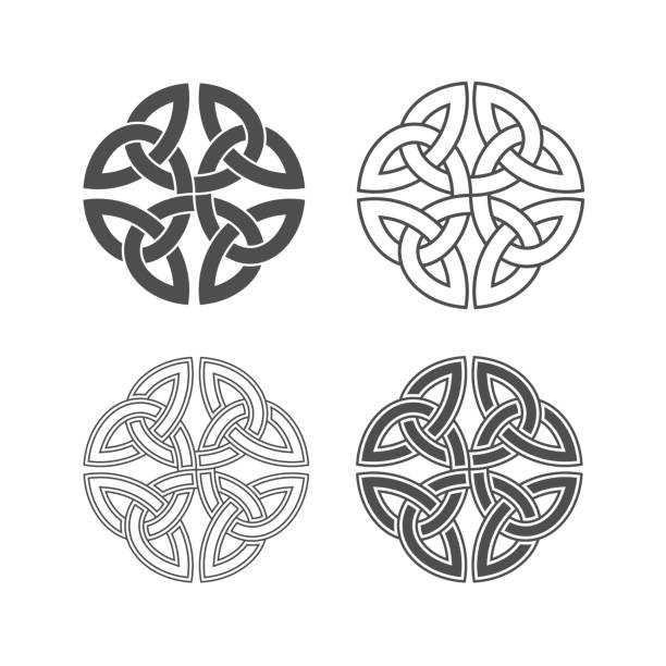vector celtic knot. ethnic ornament. - celtic tattoos stock illustrations, clip art, cartoons, & icons