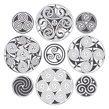 Vector celtic spiral design for prints, tattoo and decoration