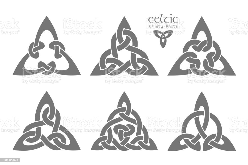 Ilustración de Parte De Nudo Trinidad Celta De Vector 1 Ornamento De ...