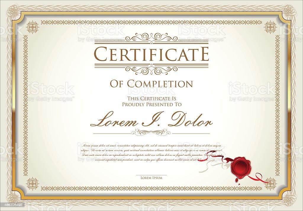 Vector certificate template vector art illustration
