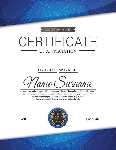 Vector certificate template. Vector certificate template. business borders stock illustrations