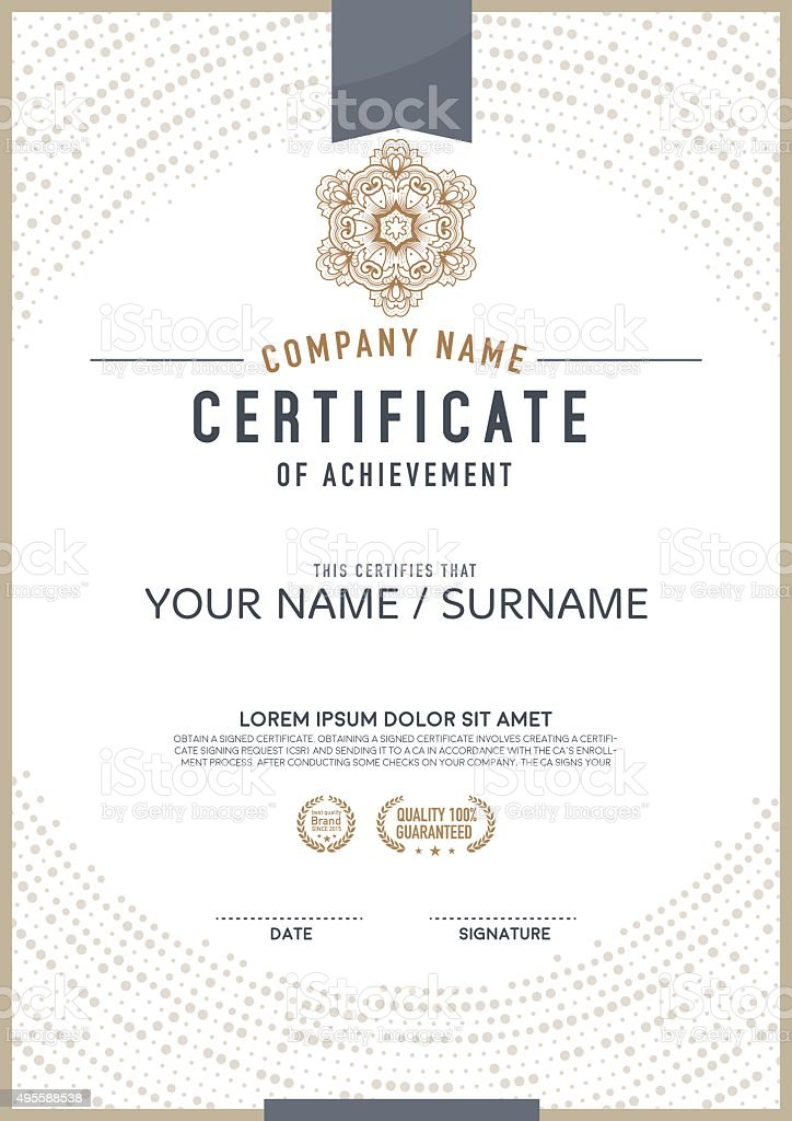 Vector certificate template. vector art illustration