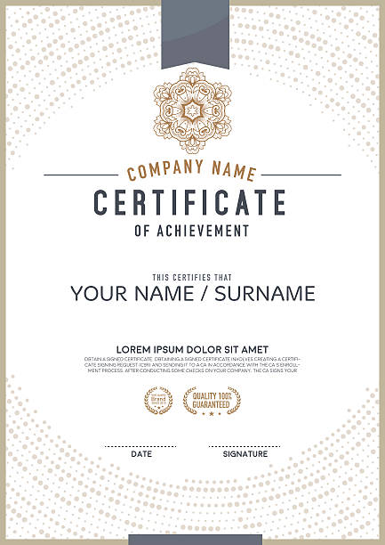 vector certificate template. - certificate and awards frames stock illustrations, clip art, cartoons, & icons