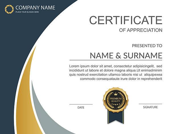 stockillustraties, clipart, cartoons en iconen met vector certificate template. - certificaat
