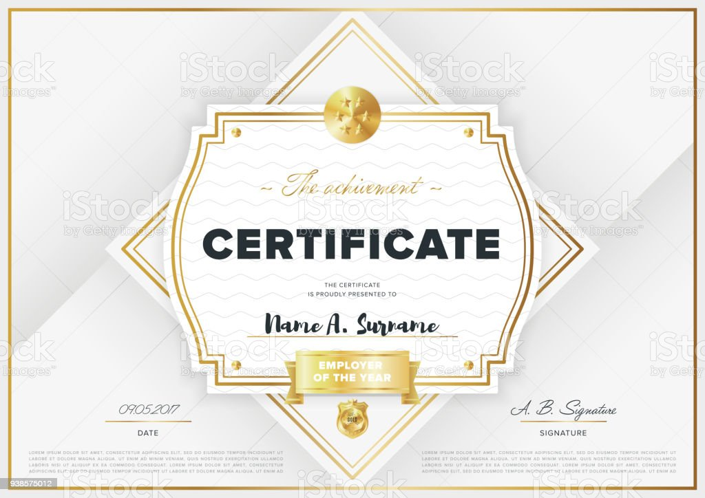 Vector Certificate Template Stock Vector Art More Images Of
