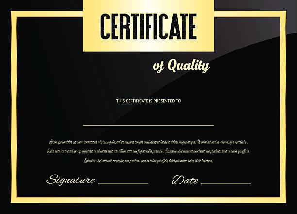 Vector certificate (design template) Eps10 illustration debenture stock illustrations