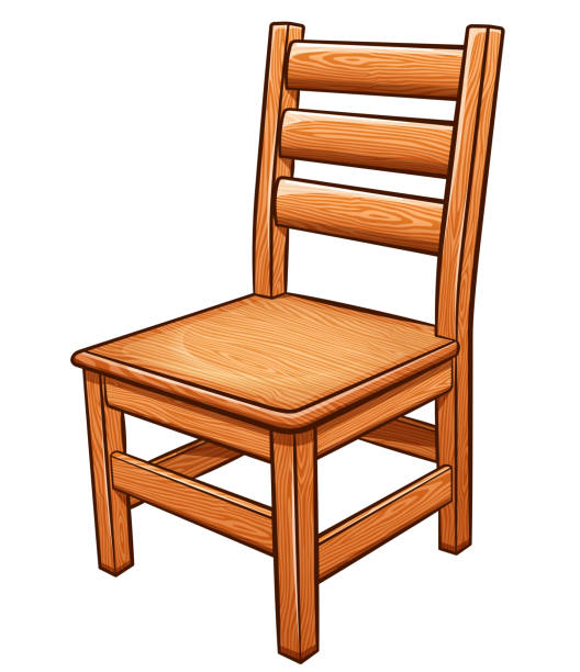 Drawing Of A Simple Wood Chair Illustrations, Royalty-Free ...