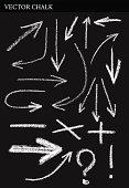 Vector Chalk Arrows