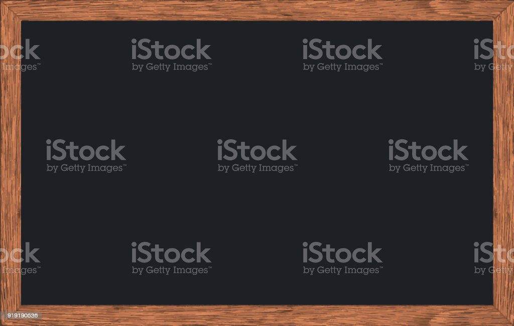 Vector Chalk Rubbed Out On Blackboard With Wooden Frame Texture For ...