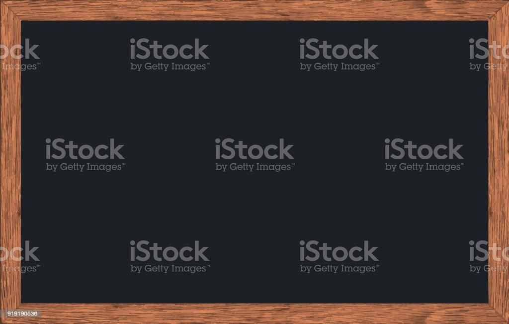 Craie de vecteur frotté tableau noir avec cadre en bois, Texture pour ajouter du texte ou le graphisme, Rectorat ou à l'école des concepts. - Illustration vectorielle
