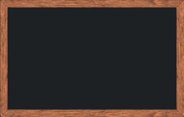 vector chalk rubbed out on blackboard with wooden frame, texture for add text or graphic design, education office or school concepts. - классная доска stock illustrations