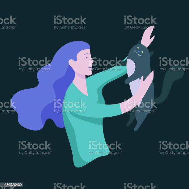 Vector character happy people with their pets cat love their owners vector id1189920430?b=1&k=6&m=1189920430&s=612x612&h=nv0 e2jcameoglokbtnrstjq eyi9eiitddpess o3i=