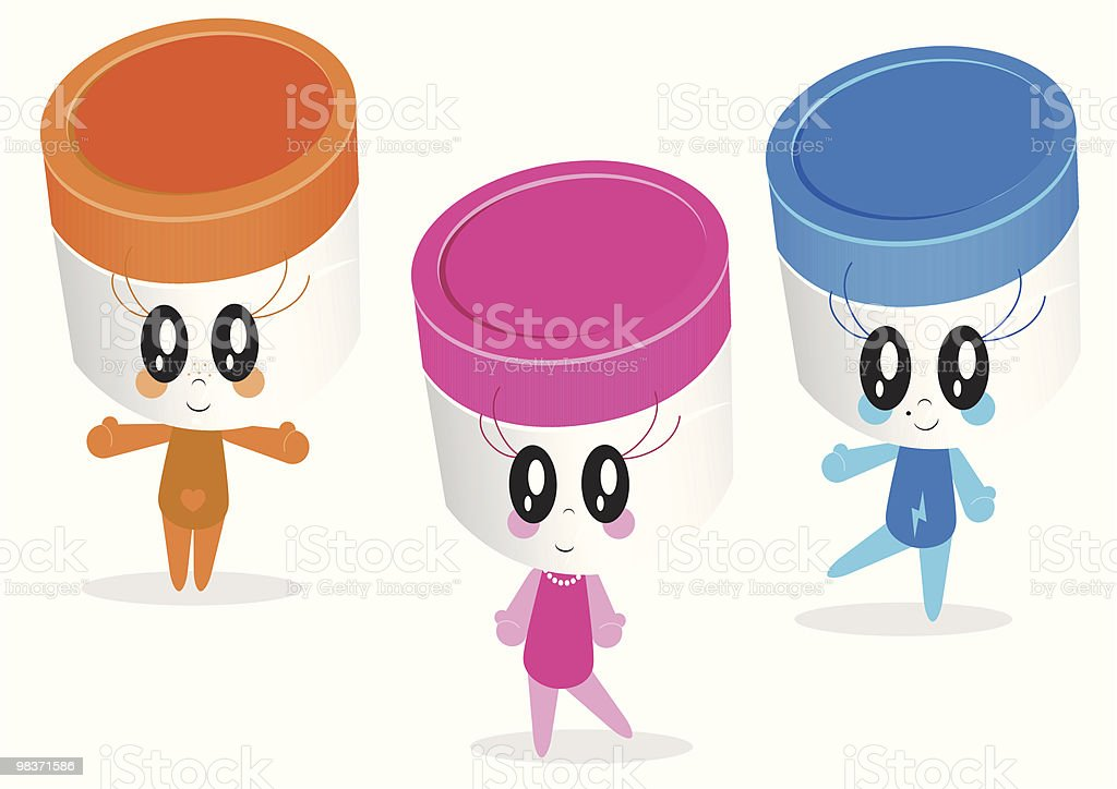 Vector character illustrations of plastic jars or containers royalty-free vector character illustrations of plastic jars or containers stock vector art & more images of adult