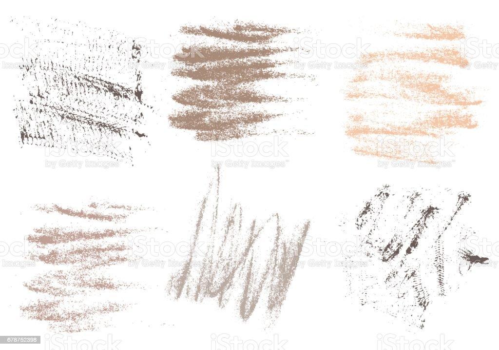 vektor karakalem el cizimi soyut beyaz arka plan sette c stok vektor sanati acemi boyama nin daha fazla gorseli istock