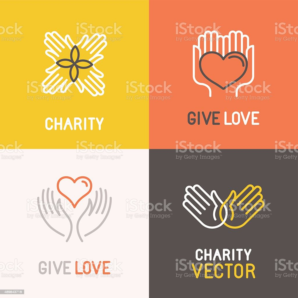 Vector charity and volunteer concepts vector art illustration