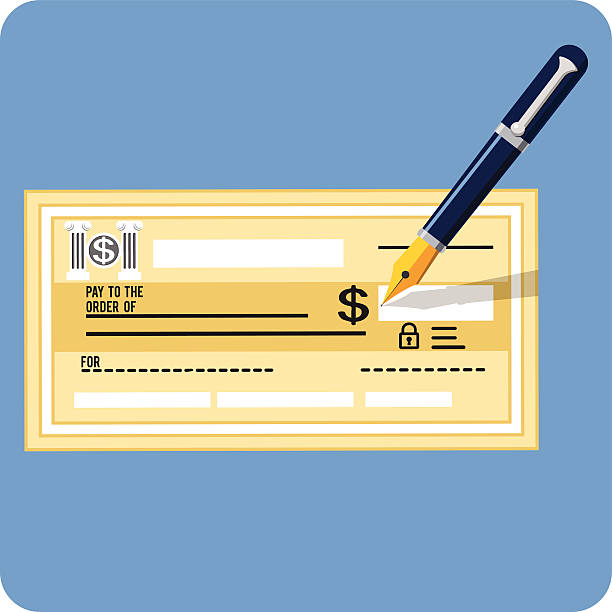 вектор регистрации и ручка - dollar bill stock illustrations