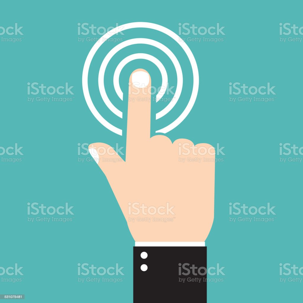 vector check mark icon, touch icon, flat icons vector art illustration
