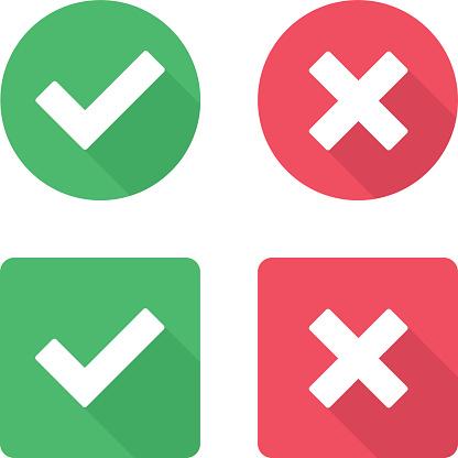 Vector check mark icons.