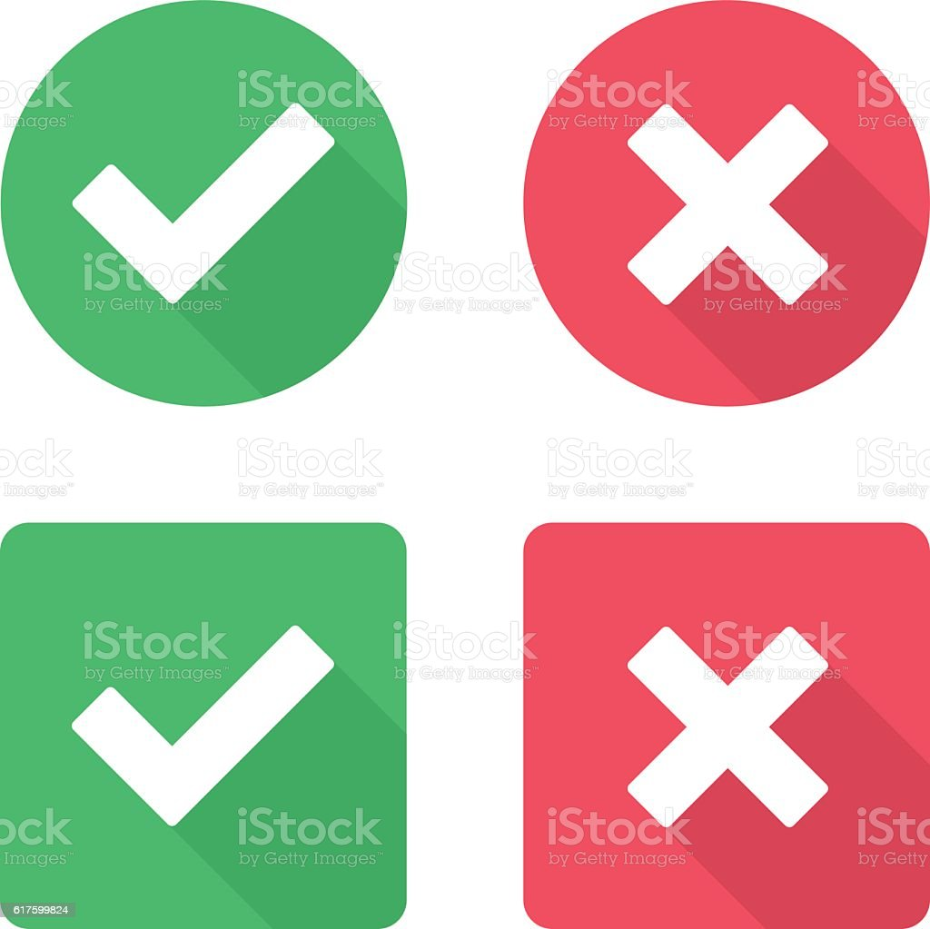 Vector check mark icons. vector art illustration
