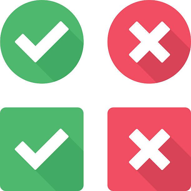 Vector check mark icons. vector art illustration