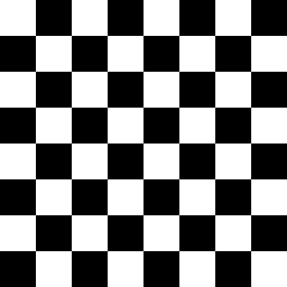 Vector checker chess square black and white seamless background