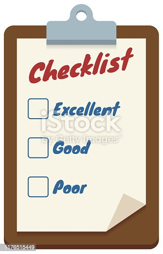 Checklist board in vector