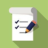 Vector Checklist with Pencil