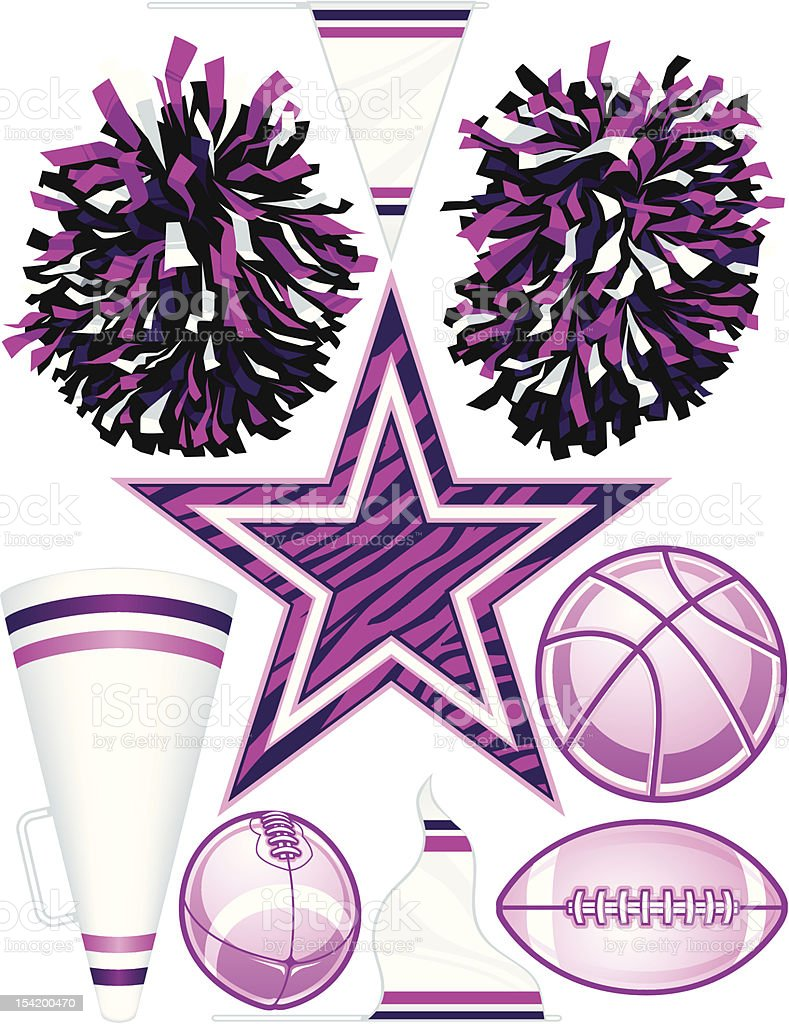 Vector Cheerleader Elements royalty-free stock vector art