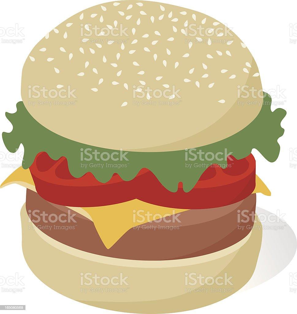 Vector cheeseburger vector art illustration