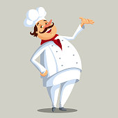 Vector Illustration of a Chef Character