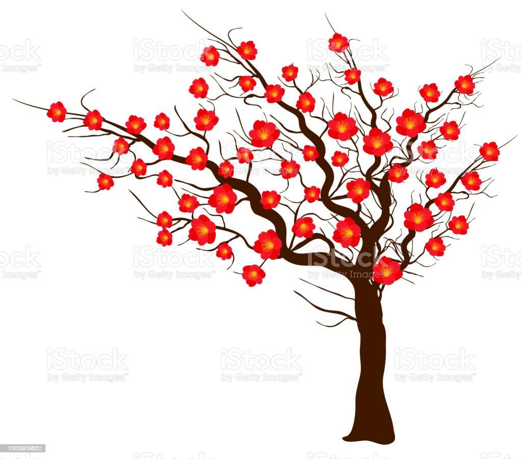 旧正月と秋祭り中旬桜の花をベクトルします 2019年のベクターアート