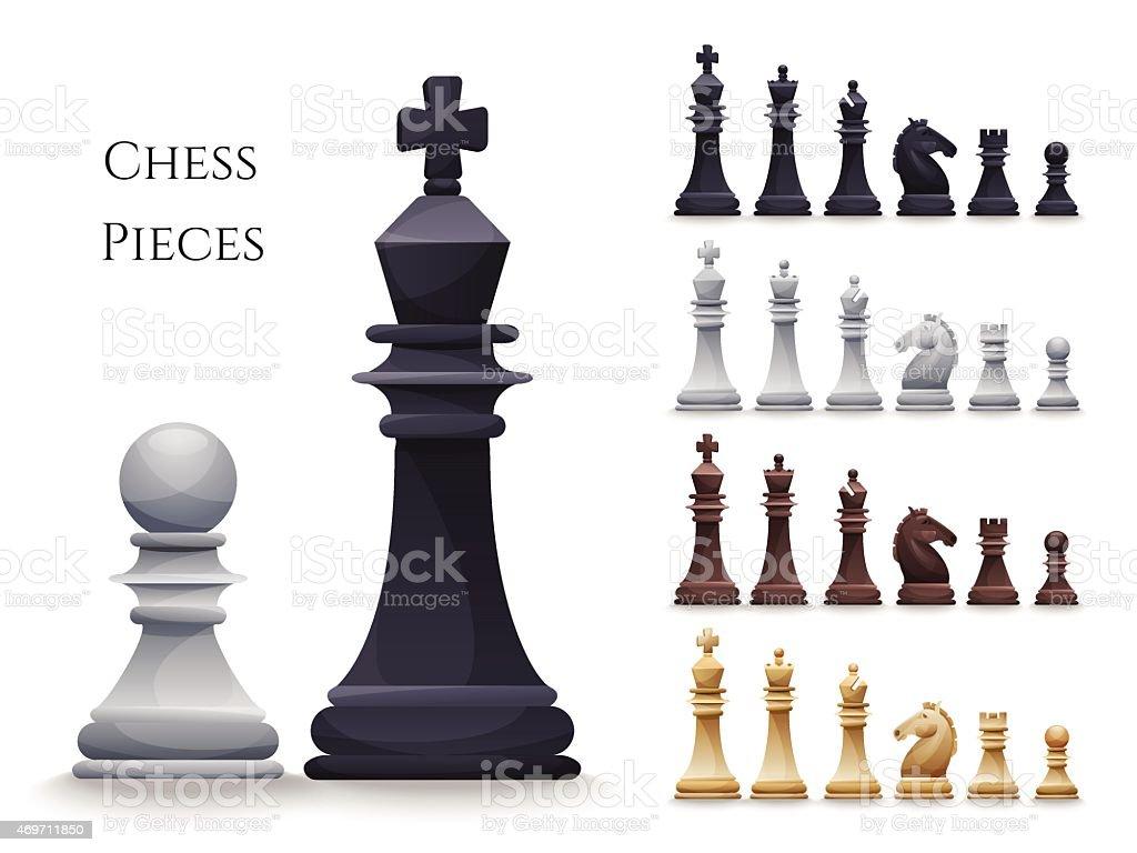 Vector Chess Figures big set vector art illustration