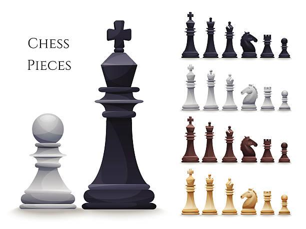 illustrations, cliparts, dessins animés et icônes de illustration d'un jeu d'échecs chiffres big set - échec
