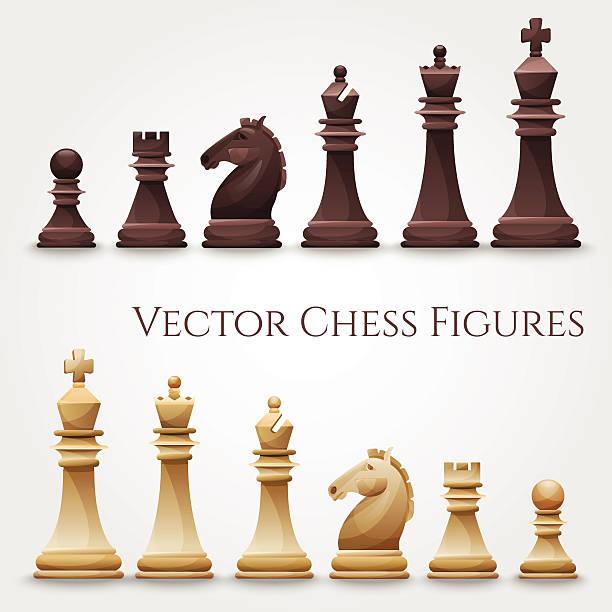 bildbanksillustrationer, clip art samt tecknat material och ikoner med vector chess figures - häst tävling