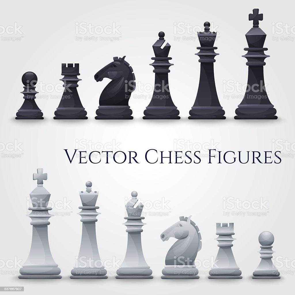 Vector Chess Figures vector art illustration