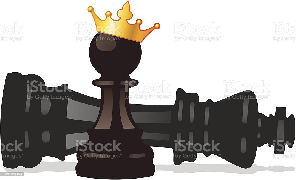 Vector Chess Pawn And Defeated King Stock Vector Art ...